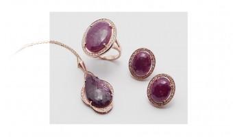 collezione in oro rosso rubini e brillanti