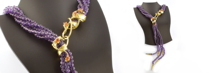 Collezione di Collane in Oro e Pietre Dure